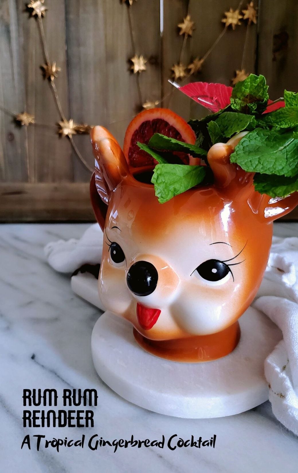 Rum Rum Reindeer | A Tropical Gingerbread Cocktail