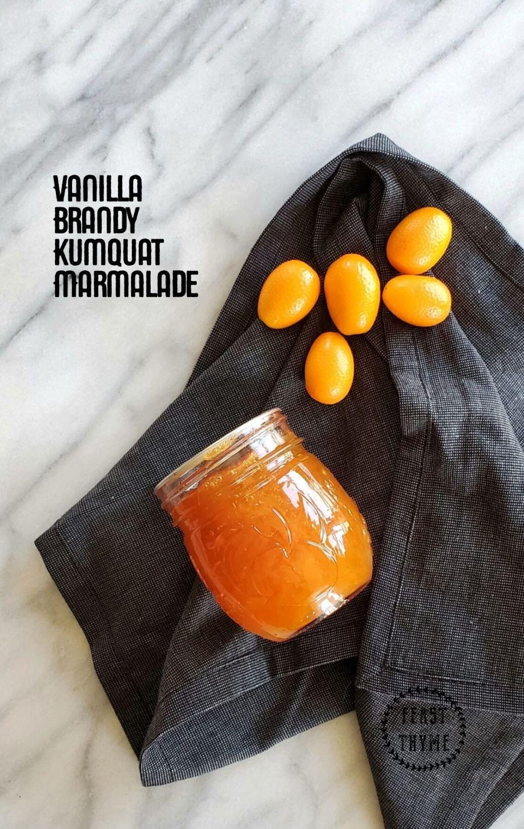 Vanilla Brandy Kumquat Marmalade