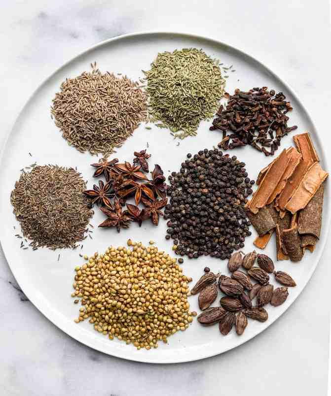 Indian Garam Masala spices.