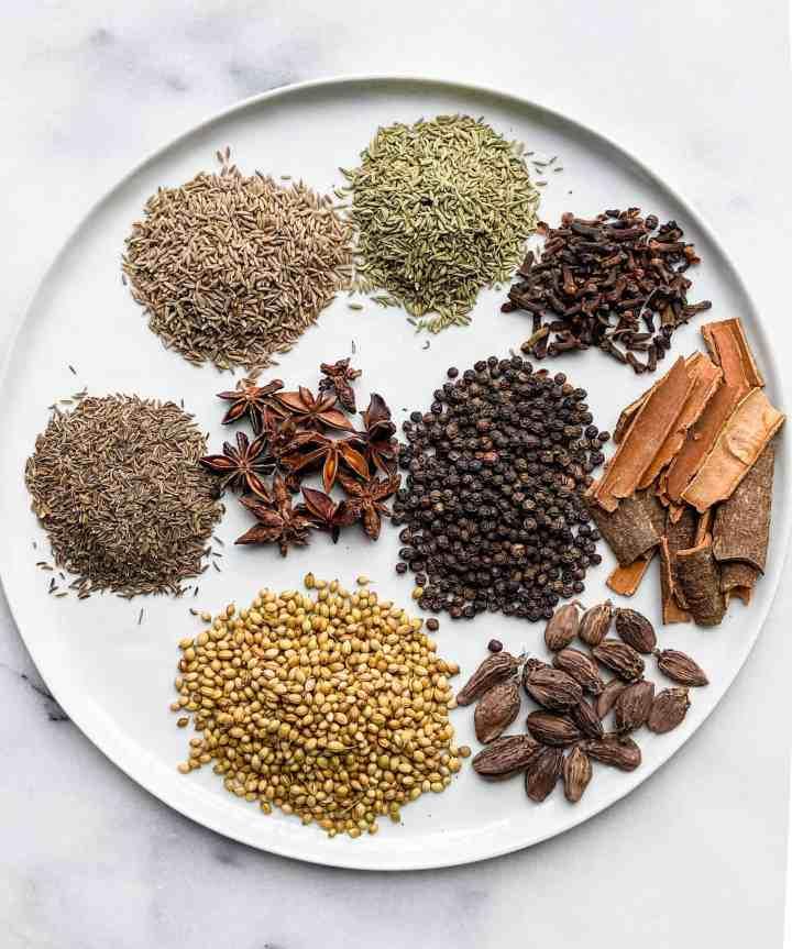 Biryani Masala Powder ingredients.