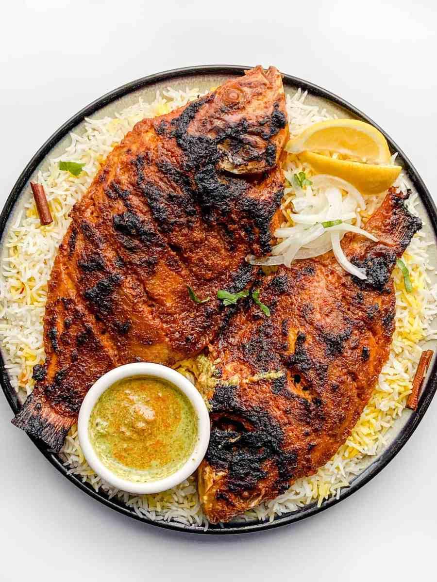 baked whole fish masala recipe