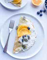 Indian Cardamom infused crepes recipes