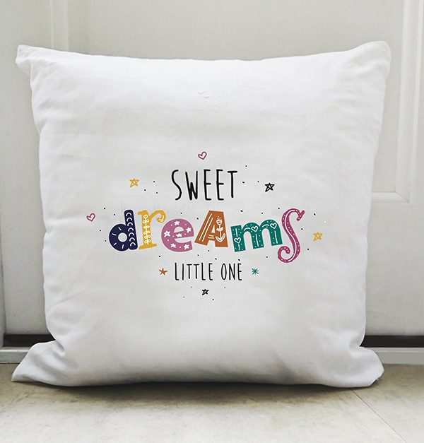 cushion sweet dreams feather and fly