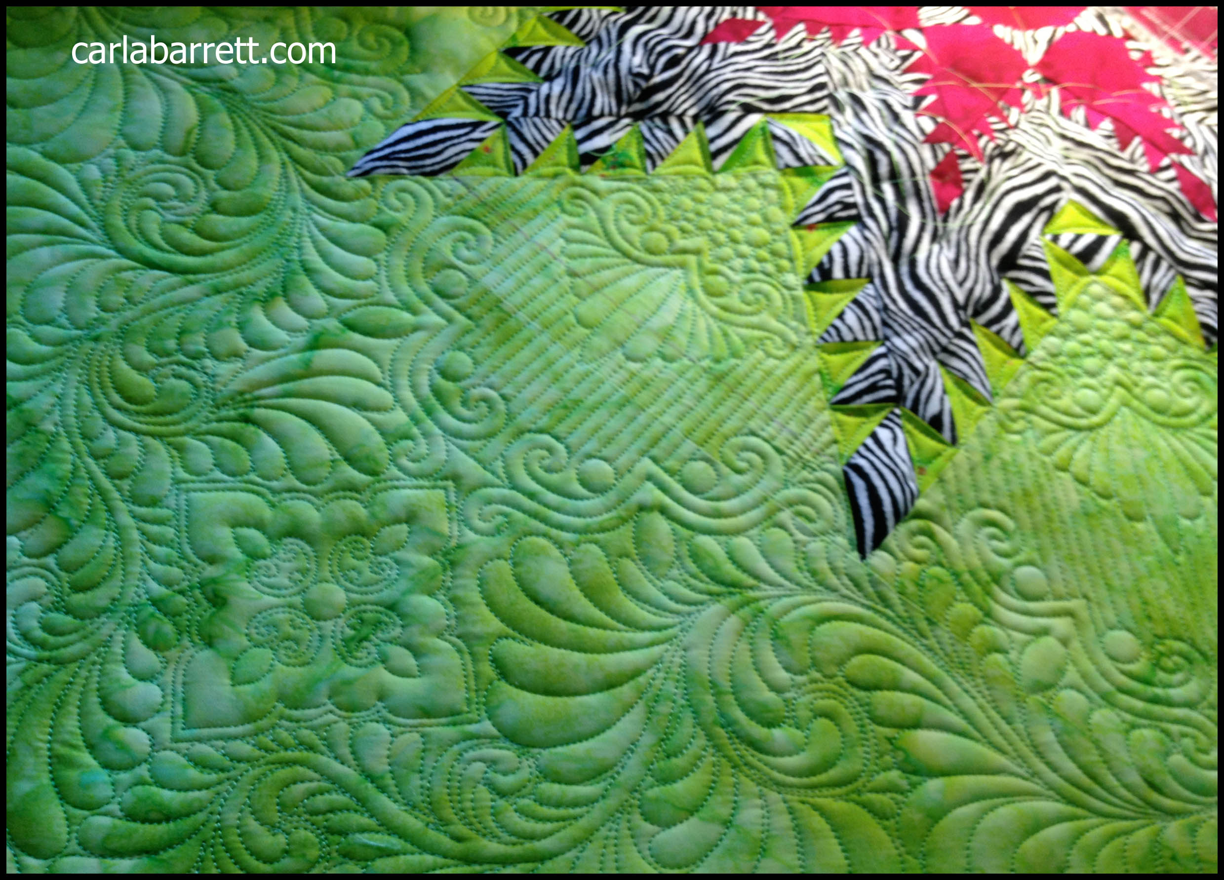 More Feather Star Quilting
