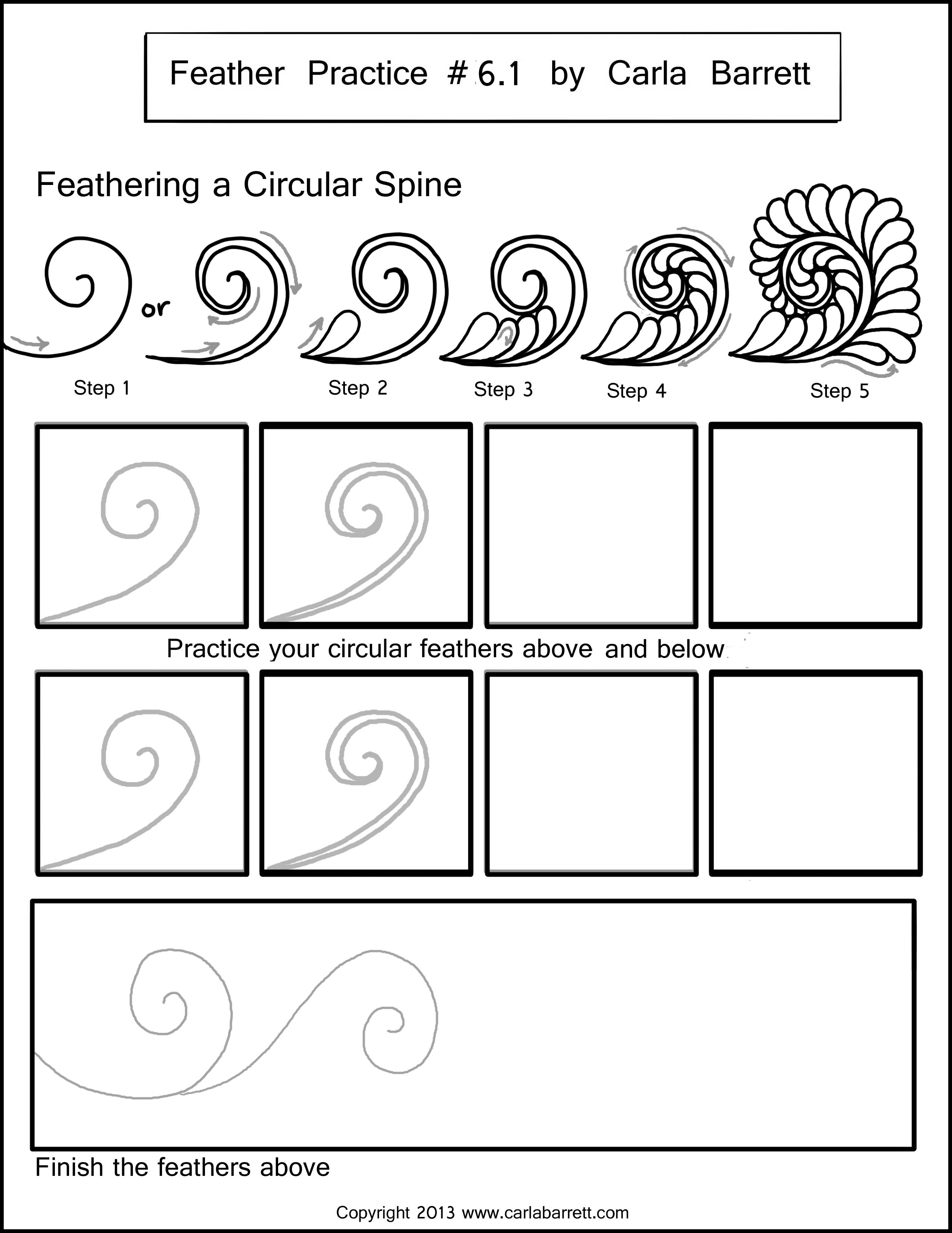 Zentangle Practice Worksheet