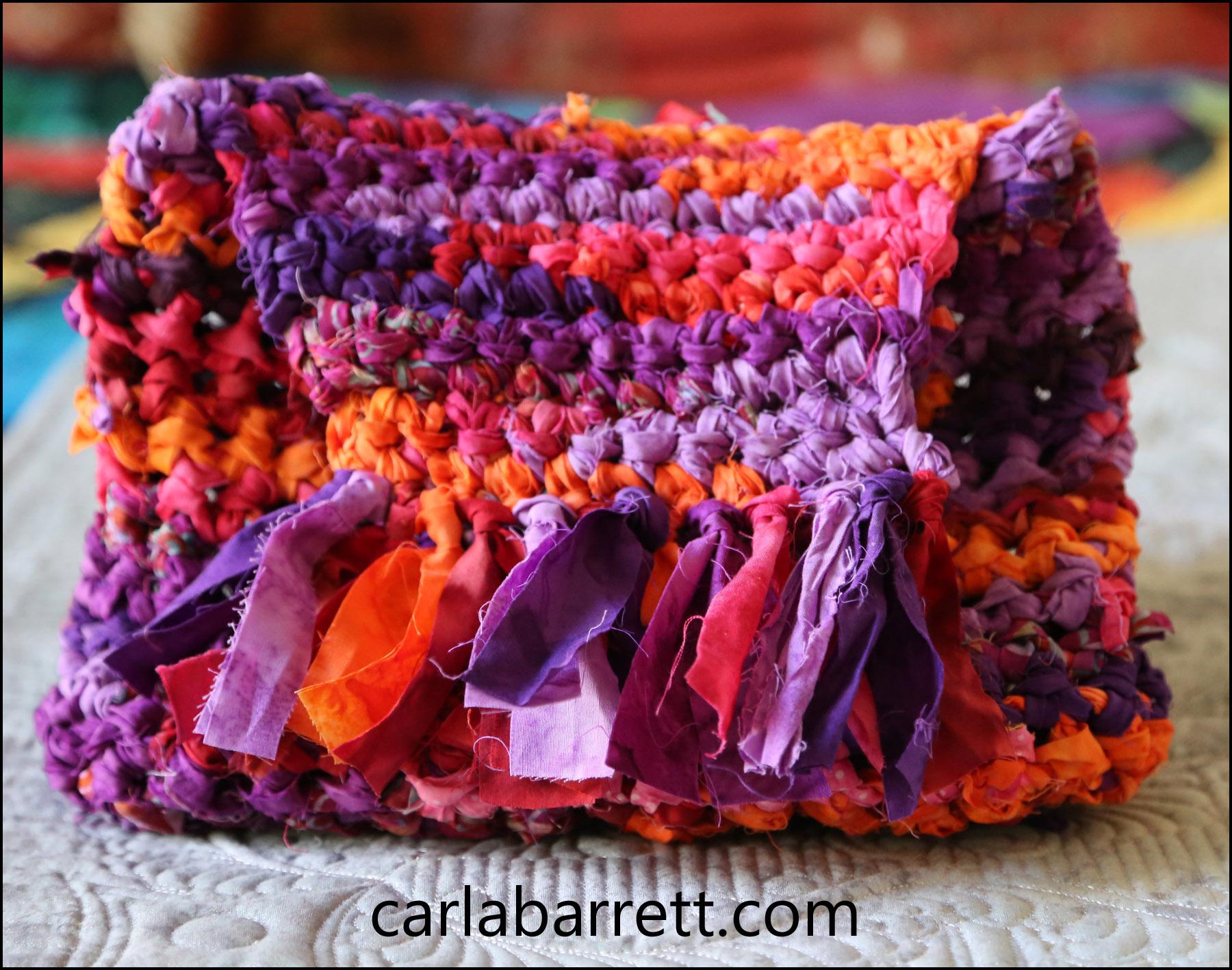 Fabric Crochet Purse