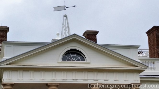 Pediment and weather vane atop Monticello--History Geeks' Tour of Monticello