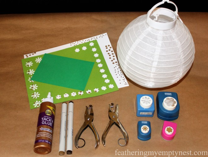 Supplies for How To Embellish Chinese Lanterns--featheringmyemptynest.com