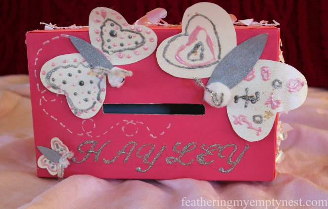 homemade child's butterfly valentine box --Valentines Ideas: Love Notes Through The Years