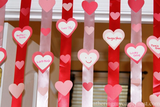 Silly valentine conversation heart streamers --Valentines Ideas: Love Notes Through The Years