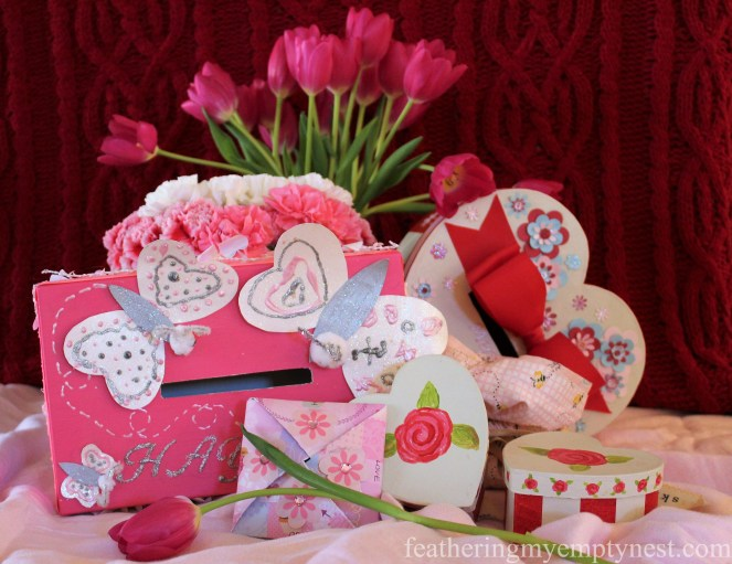 A collection of homemade valentines --Valentines Ideas: Love Notes Through The Years