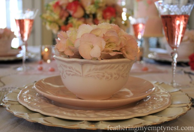 Blush flower table setting --How To Use The Language Of Flowers To Create A Blooming Valentine's Dinner