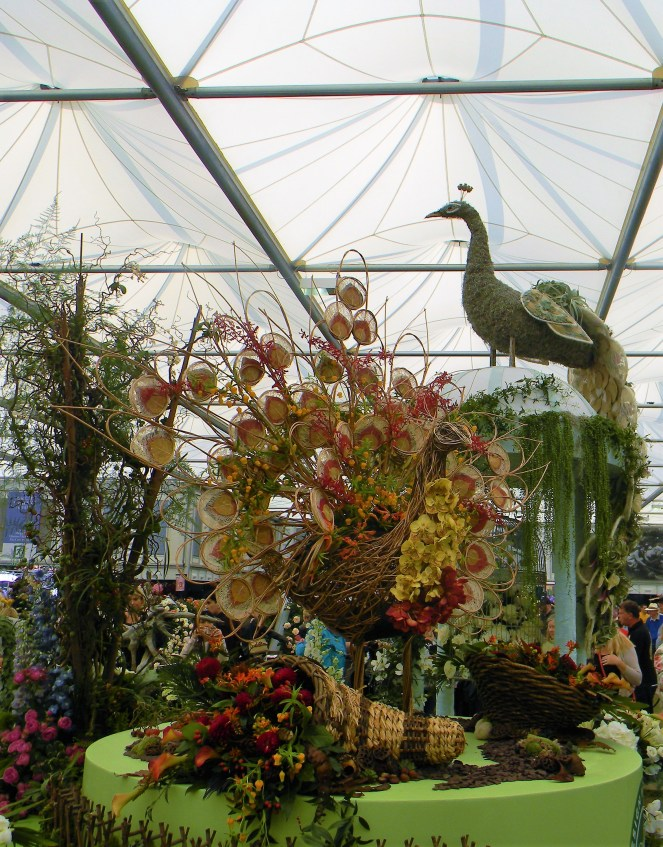 Peacock floral display in the Grand Pavilion of the 2018 Chelsea Flower Show -- Why The Chelsea Flower Show Should Be On Your Bucket List
