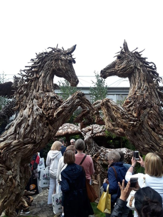 Driftwood horse sculptures --Why The Chelsea Flower Show Should Be On Your Bucket List
