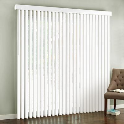 "Vertical blinds may be practical but are not very attractive --""Inexpensive Apartment Decorating Ideas"""