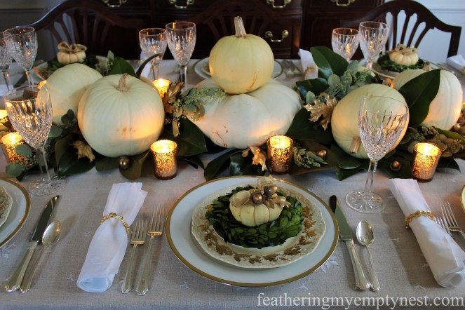 A Nature-Inspired Elegant Thanksgiving Tablescape