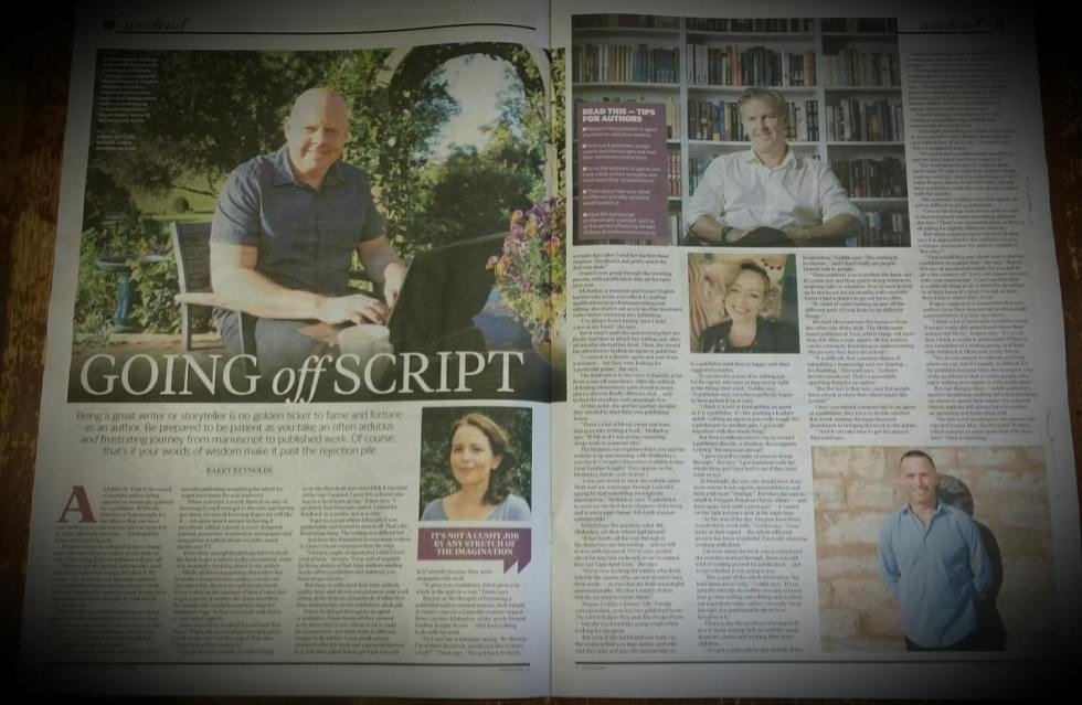 Feather Knight Books in the Herald Sun, Caroline Mullarkey publishing company owner featured in a two-page spread in the Herald Sun. Matt dunn author of Red Time featured in Herald Sun article. Matt Dunn published by New Australian publishing company Feather Knight Books. Going Off Script Herald Sun. Matt Dunn finds a perfect publishing partner in Feather Knight Books. Herald Sun article by Barry Reynolds featuring New Australian Publishing Company Feather Knight books, Matt Dunn author of Red Time and Caroline Mullarkey author of Corrupted Innocence. Top Herald Sun stories on authors and publishing companies including Feather Knight Books and Penguin. Publishing Tips. Get Published. Becoming a famous author.