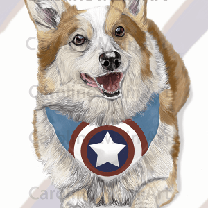 Captain Corgi 11×17 Art Print