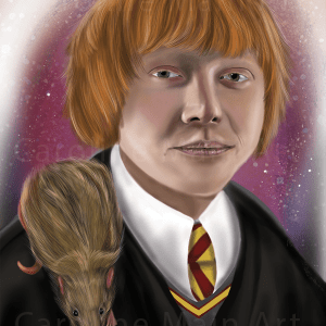 Ron Weasley & Scabbers 8×10 Print