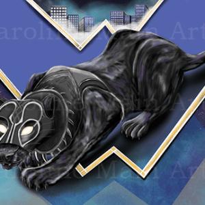 Black Panther 11×17 Art Poster