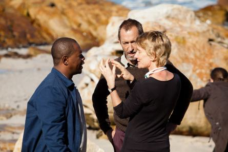 WYWL Director Catherine Stewart with Fezile Mpela and Lionel Newton