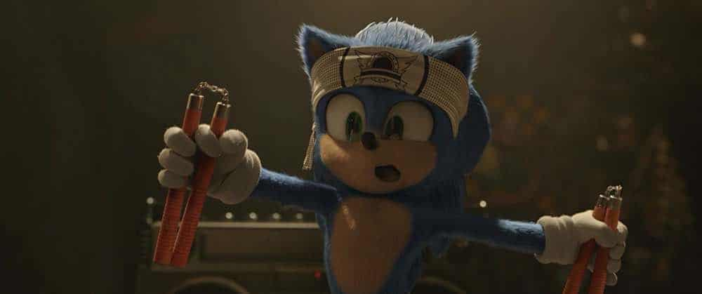 Sonic the Hedgehog Sonic trying karate