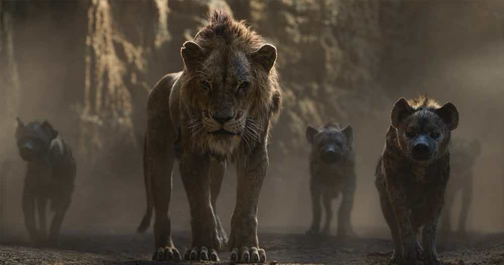 The Lion King 2019 Scar and hyenas