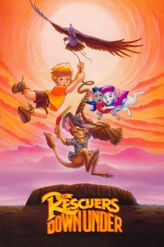The Rescuers Down Under 1990 movie poster