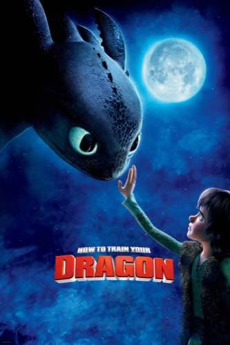 How to Train Your Dragon 2010 movie poster