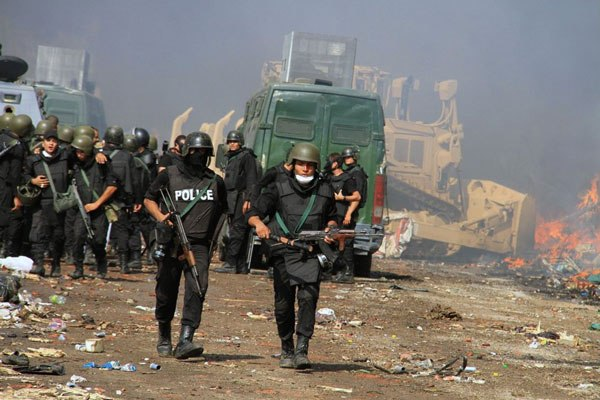Egyptian armed police