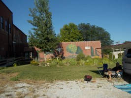 The backyard of the Pour House and Opera House - Yokel Park