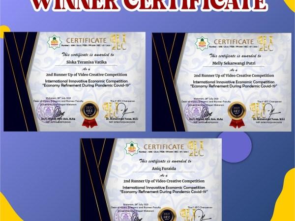 Mahasiswa Program Studi Manajemen Menjuarai Essay Competition dan Video Creative Competition Tingkat Internasional