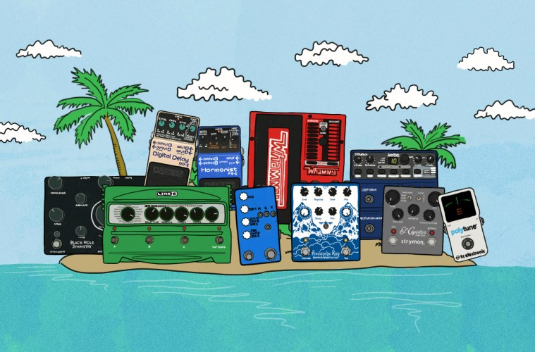 Illustrated Pedals on Desert Island