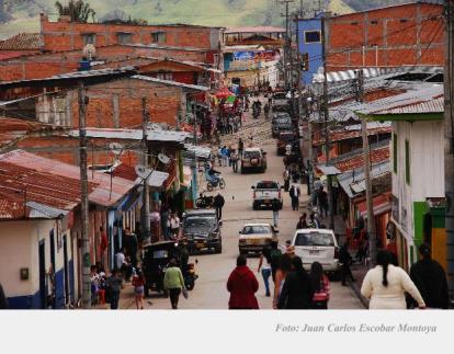Calles de Roncesvalles, en el suroccidente del Tolima.