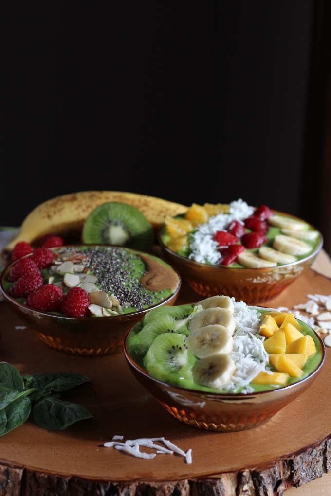 Spring Green Smoothie Bowls - a beautiful and delicious way to eat your fruits and veggies! | fedandfulfilled.com