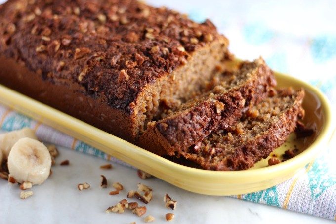 Grain-Free Streusel Banana Bread - a soft, dense sweet loaf of banana and cinnamon goodness! You have to try this! | fedandfulfilled.com