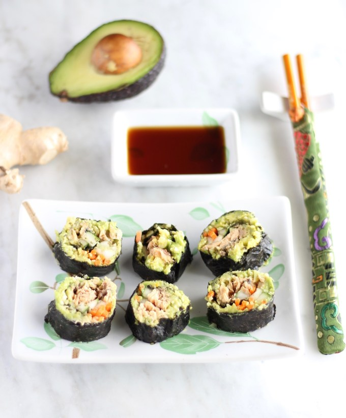 Salmon Sushi Rolls - AIP, paleo sushi that is simple to make and absolutely delicious! You have to try this! | fedandfulfilled.com