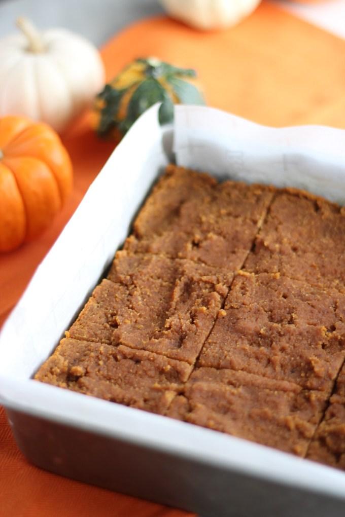 Paleo Pumpkin Blondies (AIP) - these pumpkin bars are dense, soft, and amazing eaten warm or cold! Gluten-free, dairy-free, egg-free! | fedandfulfilled.com