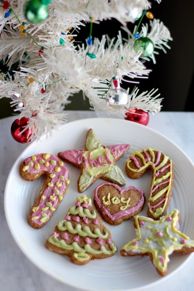 Frosted Cut-Out Sugar Cookies (AIP, Paleo, Vegan) - these tasty sugar cookies are simple to make and SO delicious! Plus they're frosted with natural food colorings! | fedandfulfilled.com