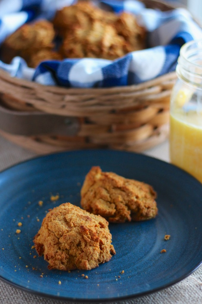 Easy Paleo Drop Biscuits (AIP) - these nut-free, grain-free, egg-free biscuits are light, fluffy, and super delicious! | fedandfulfilled.com