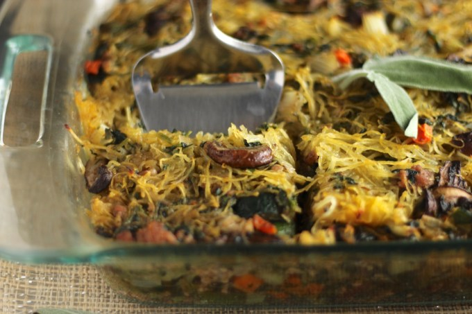 Egg-Free Breakfast Casserole (AIP, Paleo) - this veggie-packed casserole is a super healthy alternative to traditional egg casserole and it tastes SO delicious! | fedandfulfilled.com