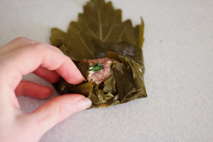 Instant Pot Paleo Stuffed Grape Leaves (AIP) - a Middle Eastern favorite is given a Paleo and AIP spin with the help of grass-fed beef and cauliflower rice! | fedandfulfilled.com
