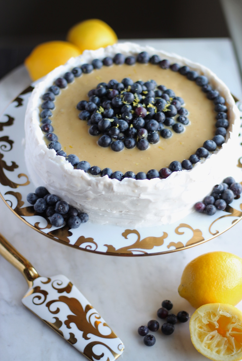 Paleo Lemon Blueberry Layer Cake Aip Worth The Wait