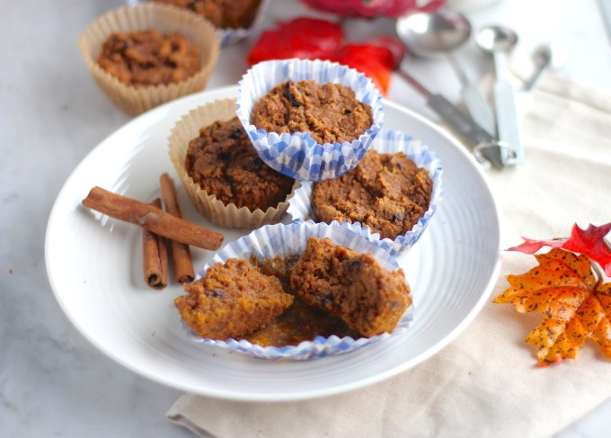 Paleo Pumpkin Spice Muffins (AIP) - an easy, allergy-friendly muffin recipe that is full of Fall spices, pumpkin, and raisins! YUM! | fedandfulfilled.com