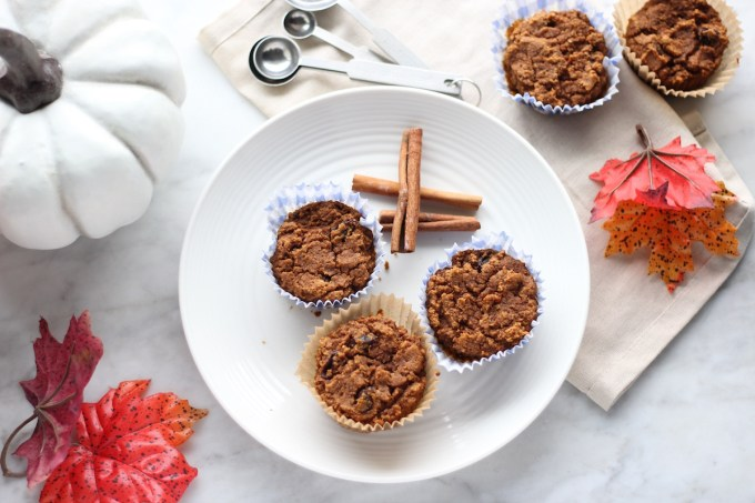 Paleo Pumpkin Spice Muffins (AIP) - soft, lightly sweet pumpkin muffins are allergy-friendly and a perfect Fall treat! | fedandfulfilled.com