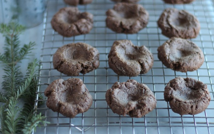 AIP Chocolate Mint Thumbprint Cookies (Paleo) - soft carob cookies taste like chocolate and are filled with refreshing peppermint frosting for a delicious combination! | fedandfulfilled.com