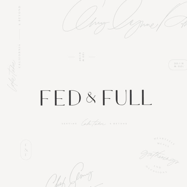 Branding Design | Fed & Full | Chef Amy Lynne Power
