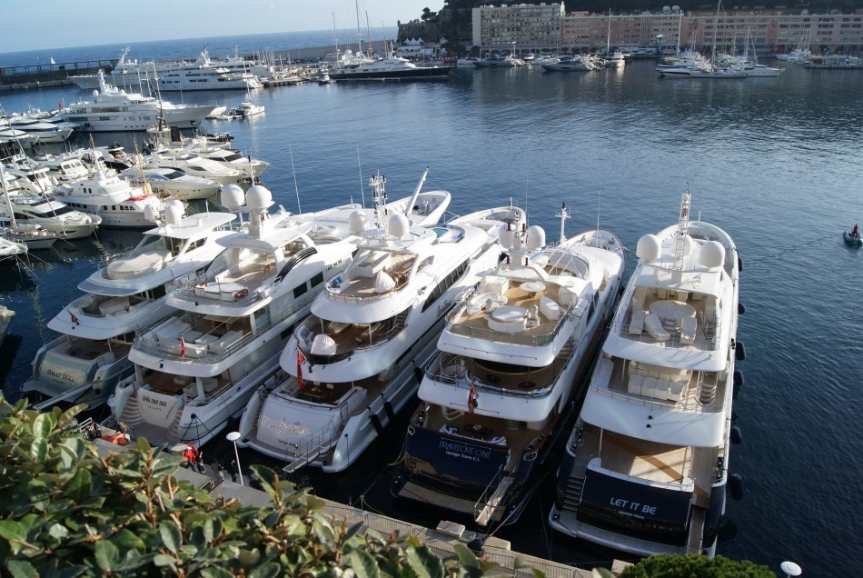 Yachts harboured in Monte Carlo bay