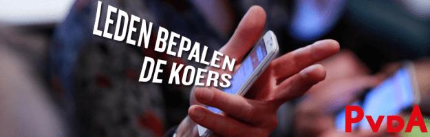 Leden bepalen de koers van de PvdA
