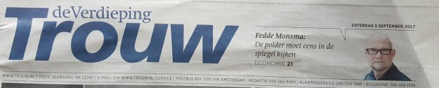 Header interview Trouw voorpagine